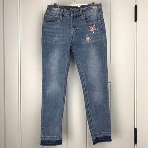Vigoss The Austin ankle skinny glitter jeans